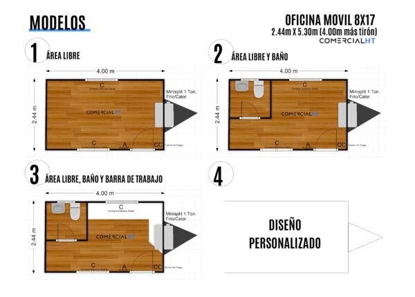 Modelos Oficina Móvil 8x17