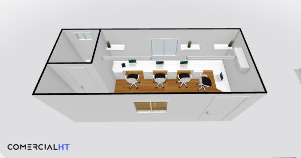 Oficina movil Remolque 8x24 Comercial HT